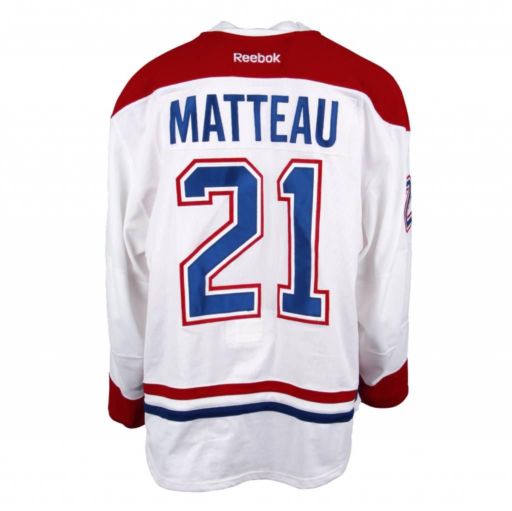 Club De Hockey CHANDAIL PORTÉ 2016-2017 #21 STEFAN MATTEAU SÉRIE 1 À L'ÉTRANGER (MATCHS PRÉPARATOIRES)