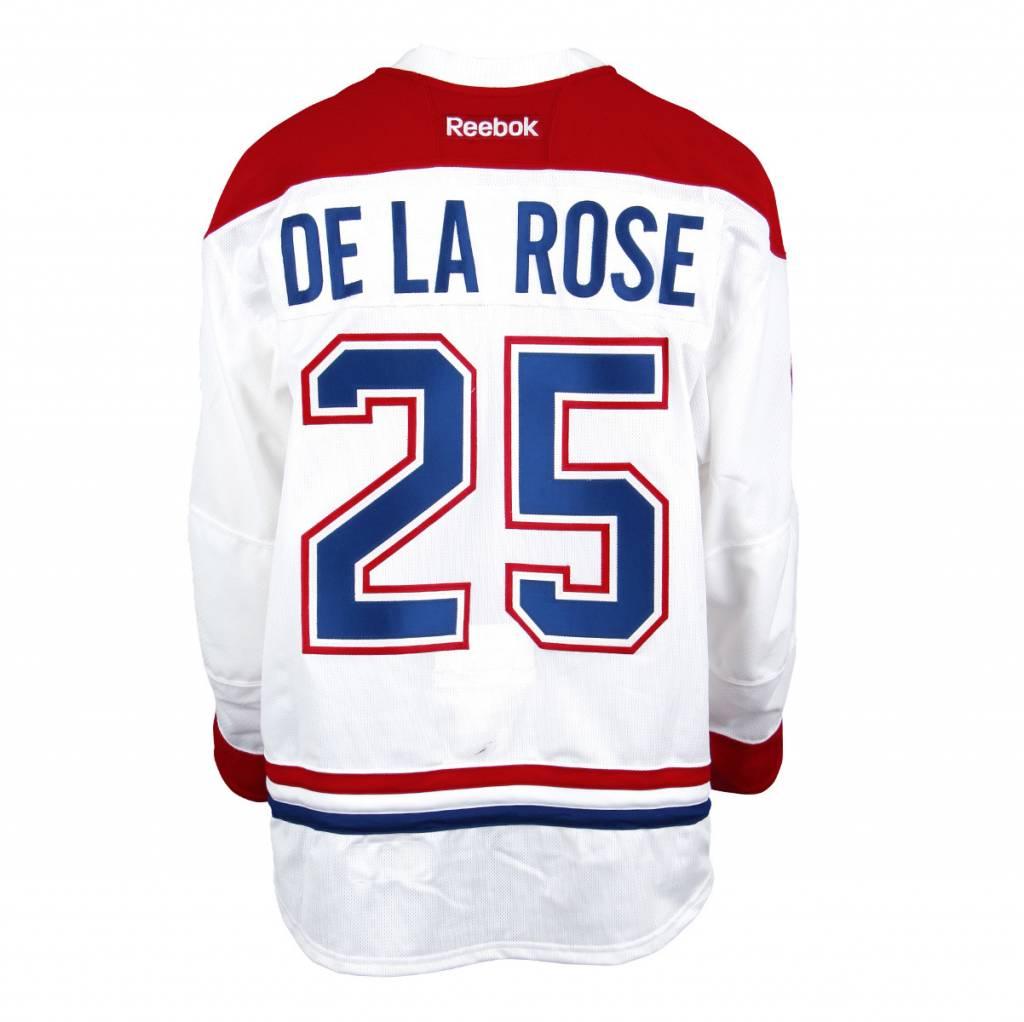 Club De Hockey CHANDAIL PORTÉ 2016-2017 #25 JACOB DE LA ROSE SÉRIE 3 À L'ÉTRANGER (CHANDAIL PREÉPARÉ)