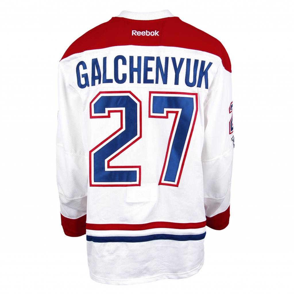 Club De Hockey 2016-2017 #27 ALEX GALCHENYUK AWAY SET 3 GAME-USED JERSEY