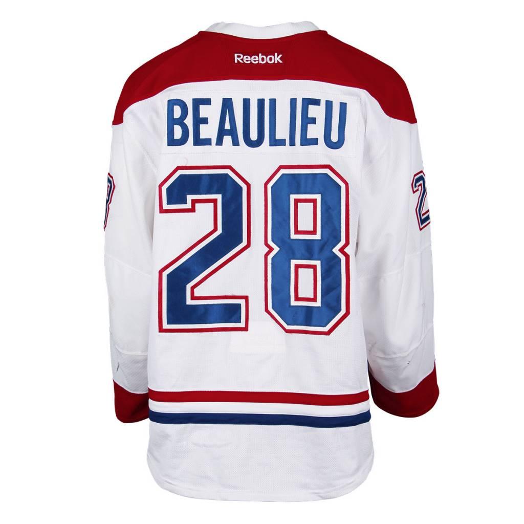 Club De Hockey CHANDAIL PORTÉ 2016-2017 #28 NATHAN BEAULIEU SÉRIE 1 À L'ÉTRANGER
