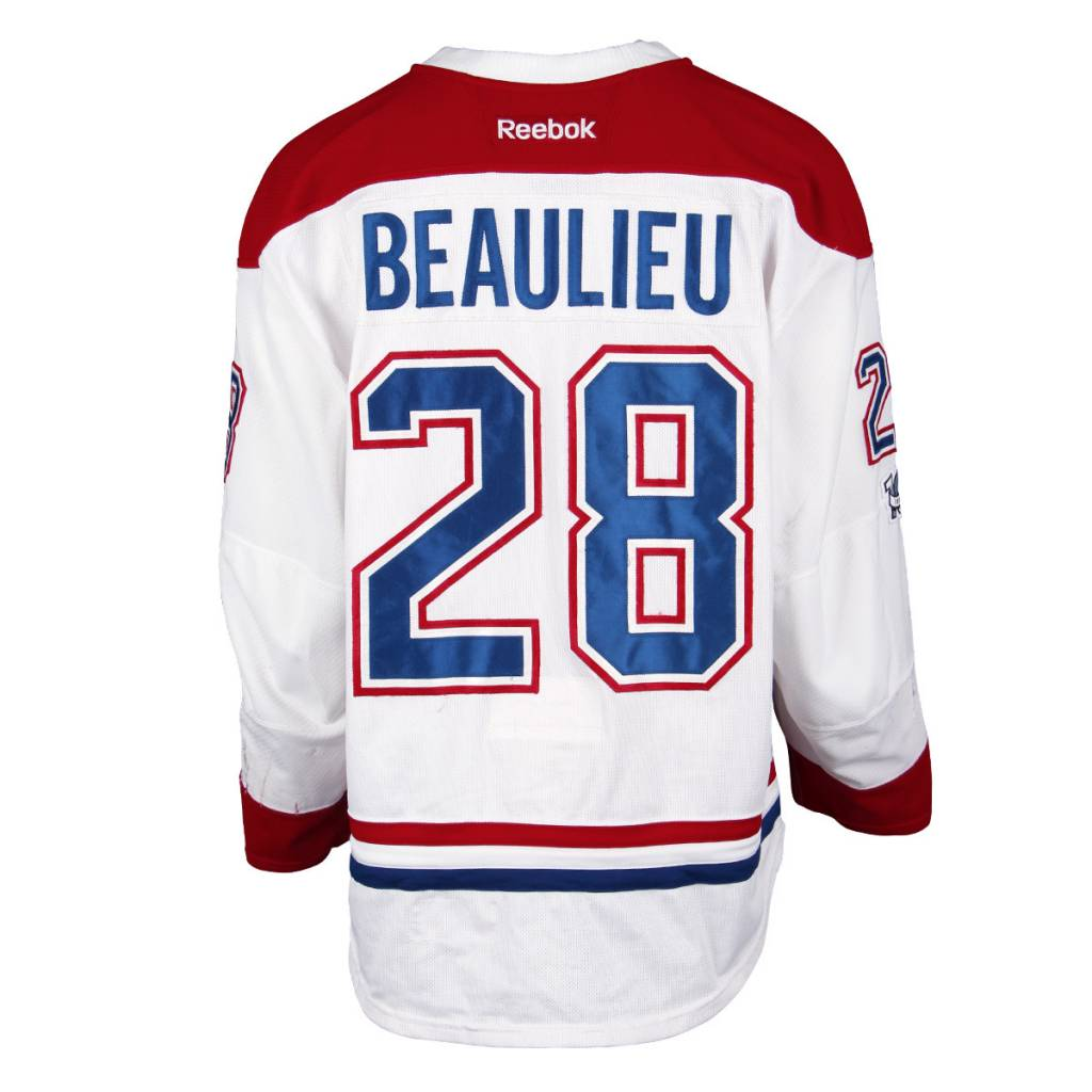 Club De Hockey CHANDAIL PORTÉ 2016-2017 #28 NATHAN BEAULIEU SÉRIE 2 À L'ÉTRANGER