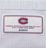 Club De Hockey CHANDAIL PORTÉ 2016-2017 #30 ZACH FUCALE SÉRIE 1 À L'ÉTRANGER (MATCHS PRÉPARATOIRES)