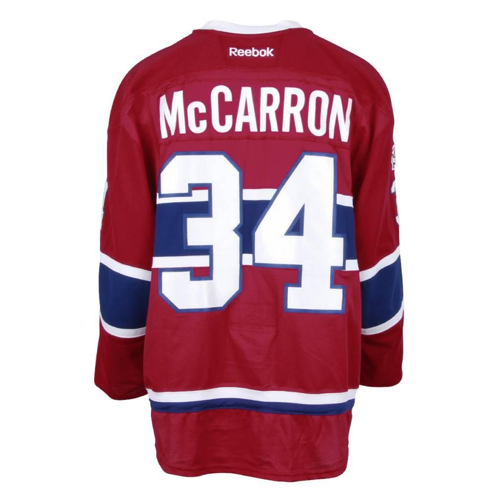 Club De Hockey 2016-2017 #34 MICHAEL MCCARRON HOME SET 2 GAME-USED JERSEY