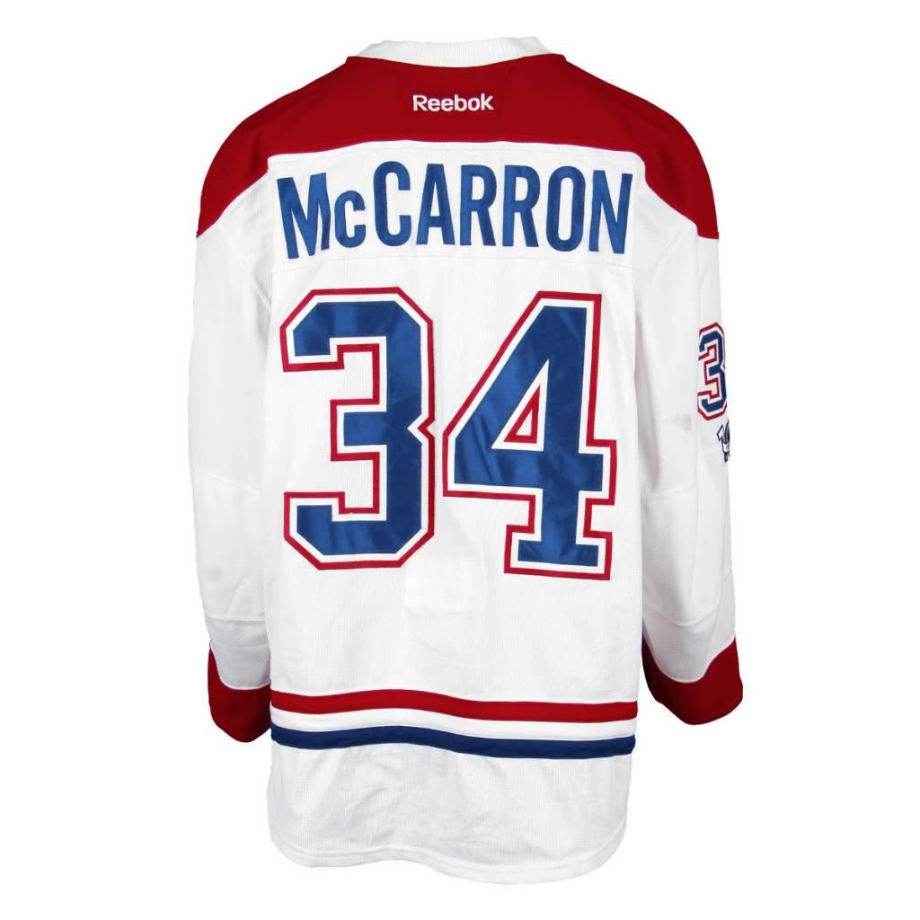 Club De Hockey CHANDAIL PORTÉ 2016-2017 #34 MICHAEL MCCARRON SÉRIE 2 À L'ÉTRANGER
