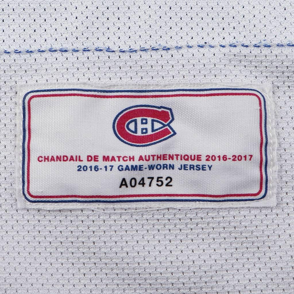 Club De Hockey CHANDAIL PORTÉ 2016-2017 #35 AL MONTOYA SÉRIE 3 À L'ÉTRANGER