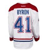 Club De Hockey CHANDAIL PORTÉ 2016-2017 #41 PAUL BYRON SÉRIE 2 À L'ÉTRANGER