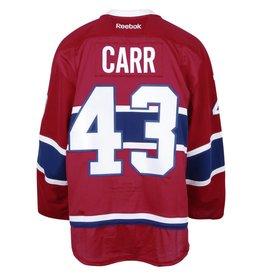 Club De Hockey CHANDAIL PORTÉ 2016-2017 #43 DANIEL CARR SÉRIE 3 À DOMICILE (CHANDAIL PRÉPARÉ)