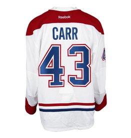 Club De Hockey CHANDAIL PORTÉ 2016-2017 #43 DANIEL CARR SÉRIE 3 √Ä L'ÉTRANGER (CHANDAIL PRÉPARÉ)