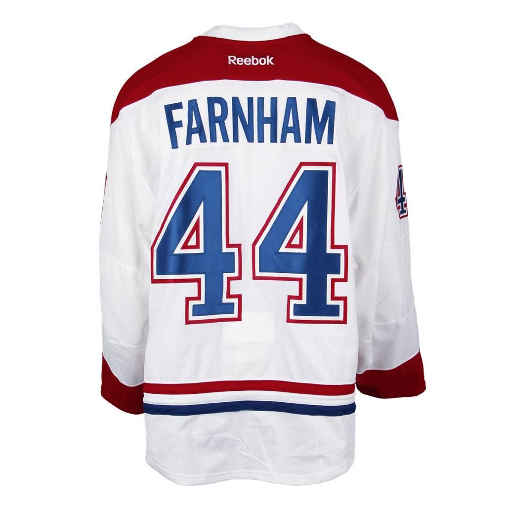 Club De Hockey CHANDAIL PORTÉ 2016-2017 #44 BOBBY FARNHAM SÉRIE 1 À L'ÉTRANGER (MATCHS PREPARATOIRES)