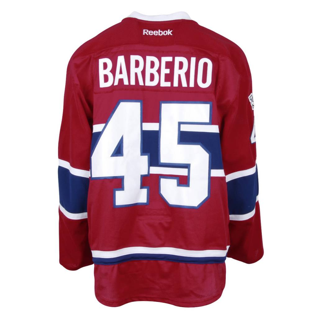 Club De Hockey CHANDAIL PORTÉ 2016-2017 #45 MARK BARBERIO SÉRIE 2 À DOMICILE (CHANDAIL PRÉPARÉ)