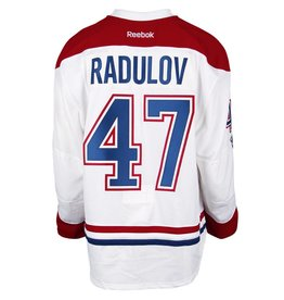 Club De Hockey CHANDAIL PORTÉ 2016-2017 #47 ALEXANDER RADULOV SÉRIE 3 À L'ÉTRANGER (CHANDAIL PRÉPARÉ)