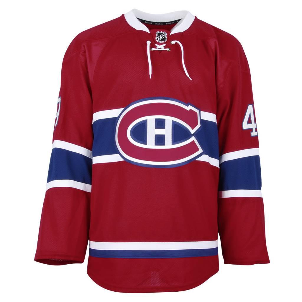 Club De Hockey CHANDAIL PORTÉ 2016-2017 #49 MAX FRIBERG SÉRIE 1 À DOMICILE (MATCHS PRÉPARATOIRES)