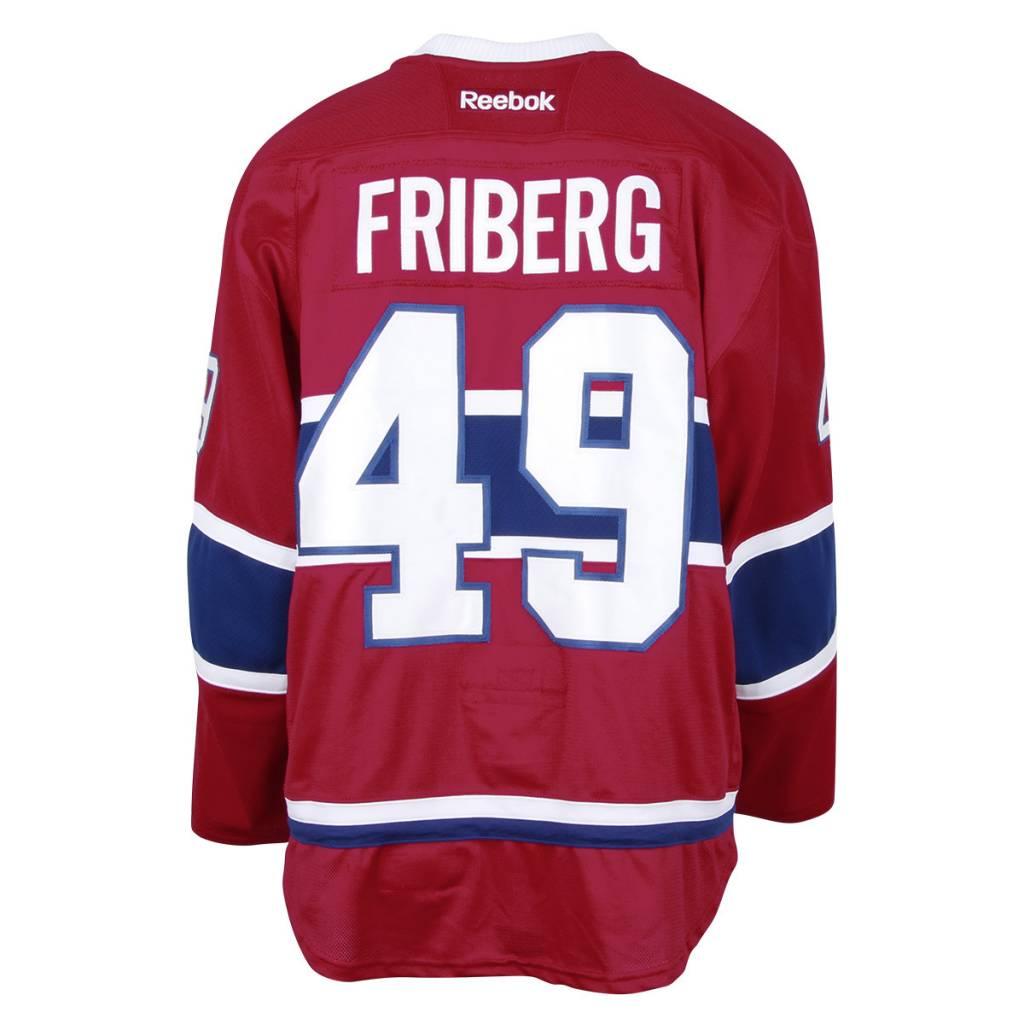 Club De Hockey 2016-2017 #49 MAX FRIBERG HOME SET 1 GAME-USED JERSEY (PRE-SEASON)