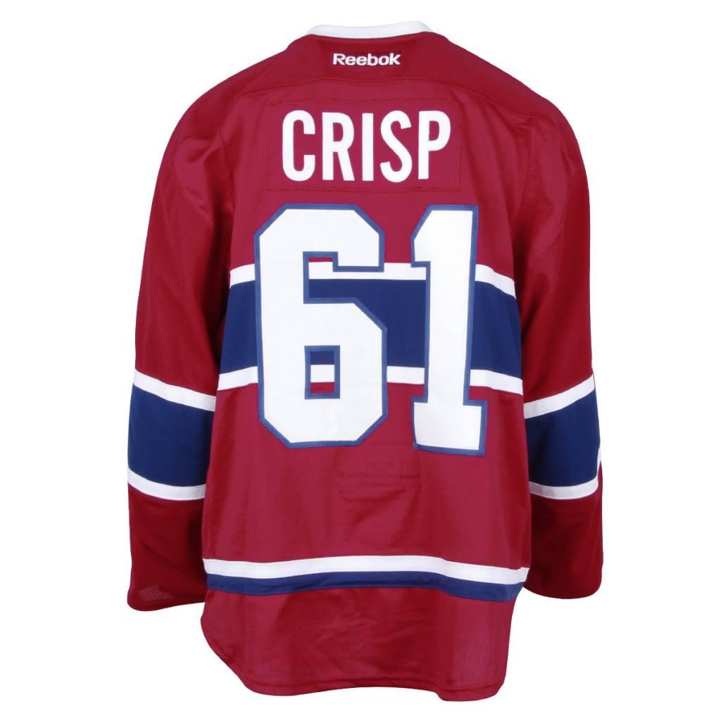 Club De Hockey CHANDAIL PORTÉ 2016-2017 #61 CONNOR CRISP SÉRIE 1 À DOMICILE (CHANDAIL PRÉPARÉ)