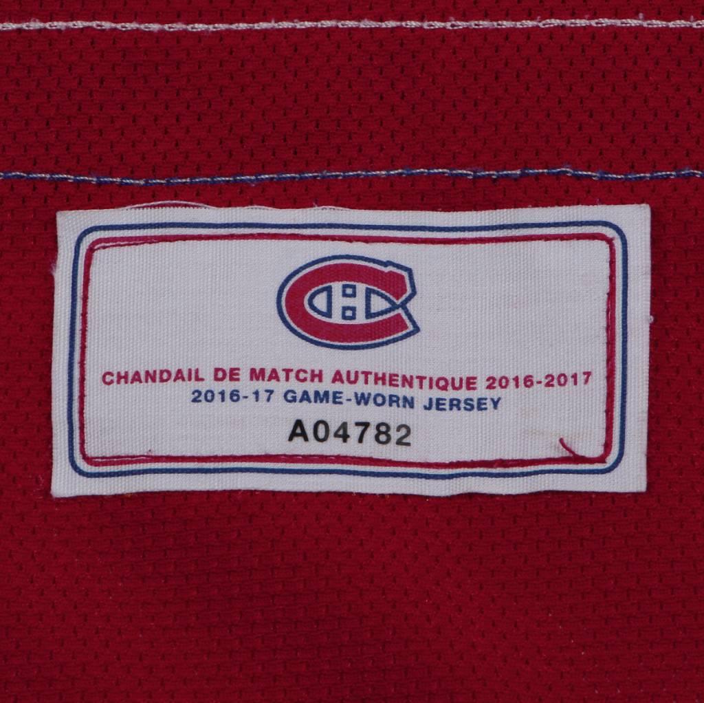 Club De Hockey 2016-2017 #71 JOEL HANLEY HOME SET 1 GAME-USED JERSEY