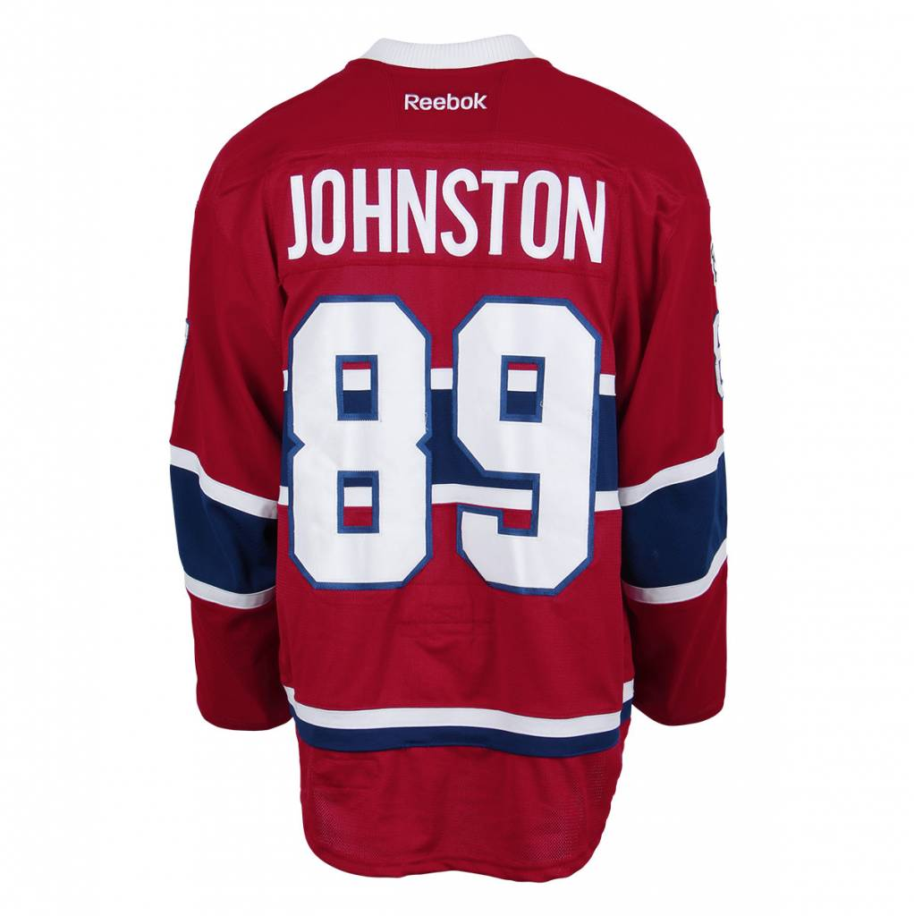 Club De Hockey CHANDAIL PORTÉ 2016-2017 #89 RYAN JOHNSTON SÉRIE 1 À DOMICILE