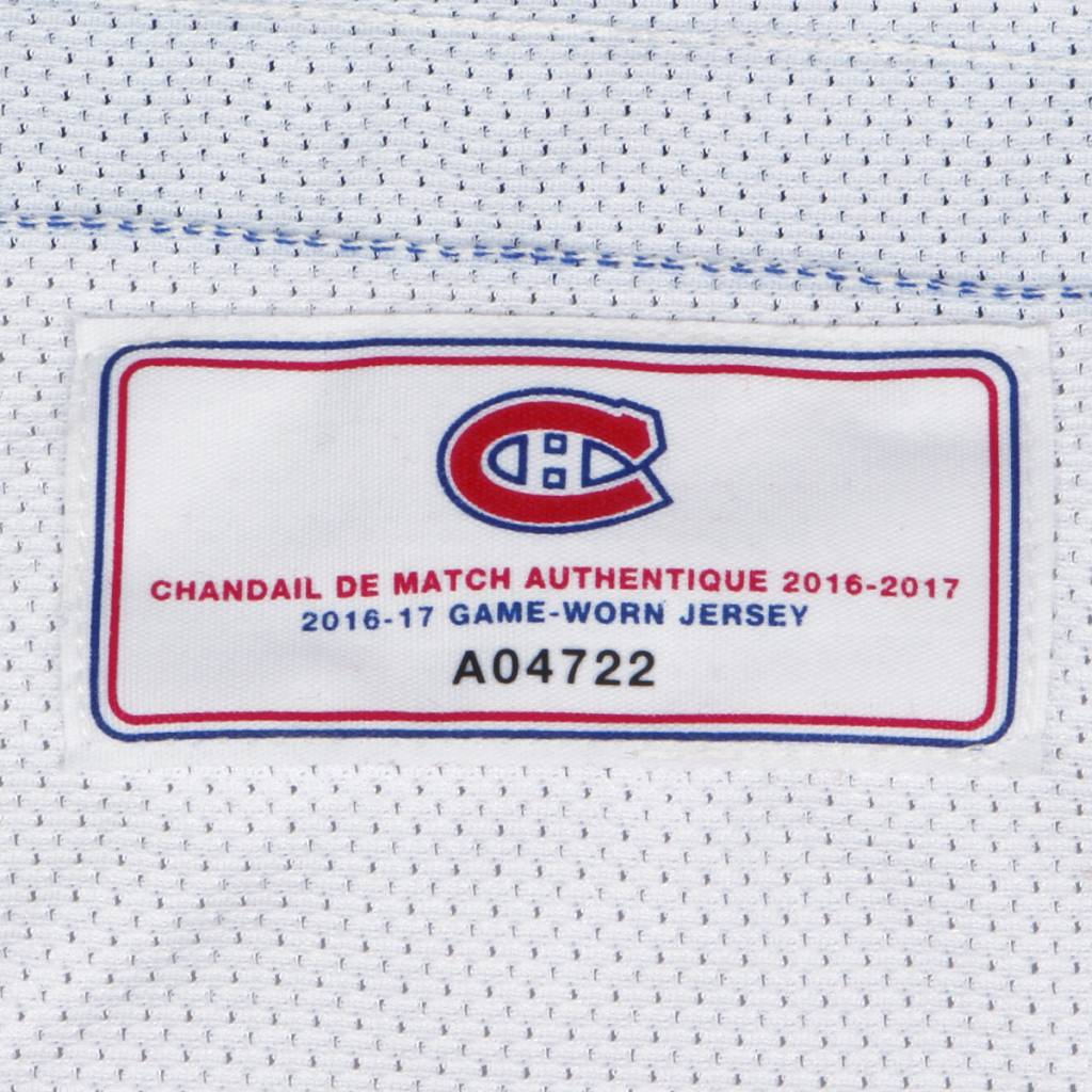 Club De Hockey 2016-2017 #92 HAYDEN MCCOOL AWAY GAME-USED JERSEY (GAME-ISSUED)