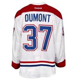 Club De Hockey CHANDAIL PORTÉ 2015-2016 #37 GABRIEL DUMONT À L'ÉTRANGER (MATCHS PRÉPARATIORES)