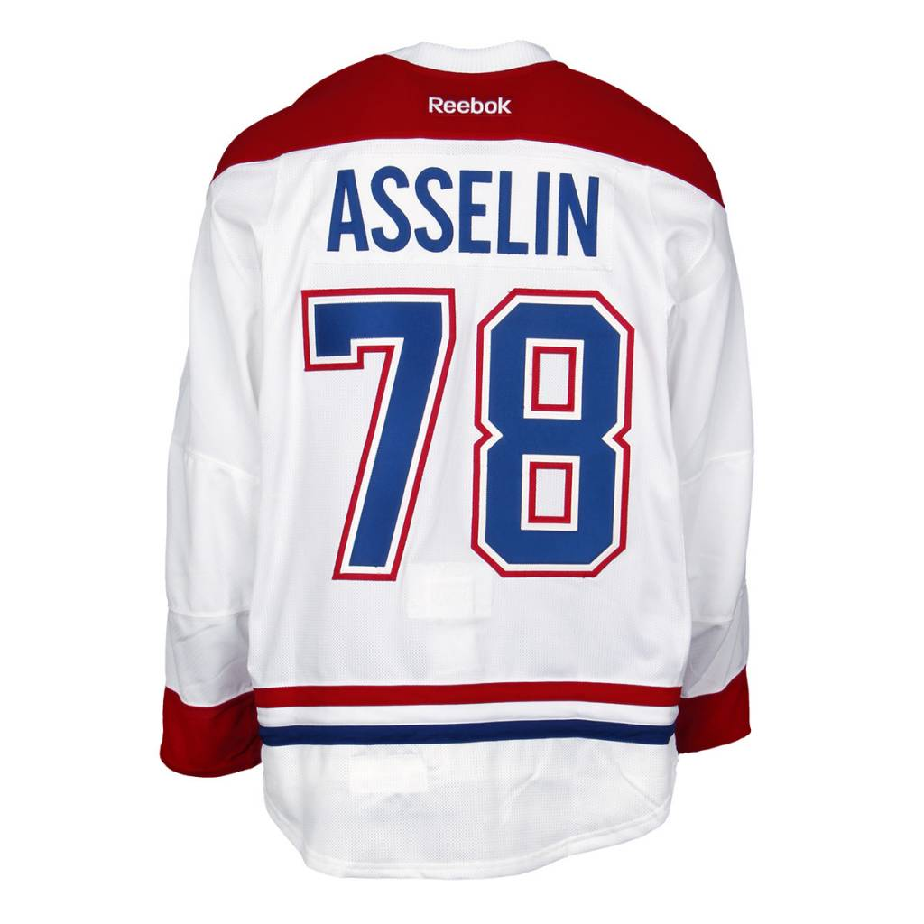 Club De Hockey 2015-2016 #78 GUILLAUME ASSELIN AWAY GAME-USED JERSEY (GAME-ISSUED)