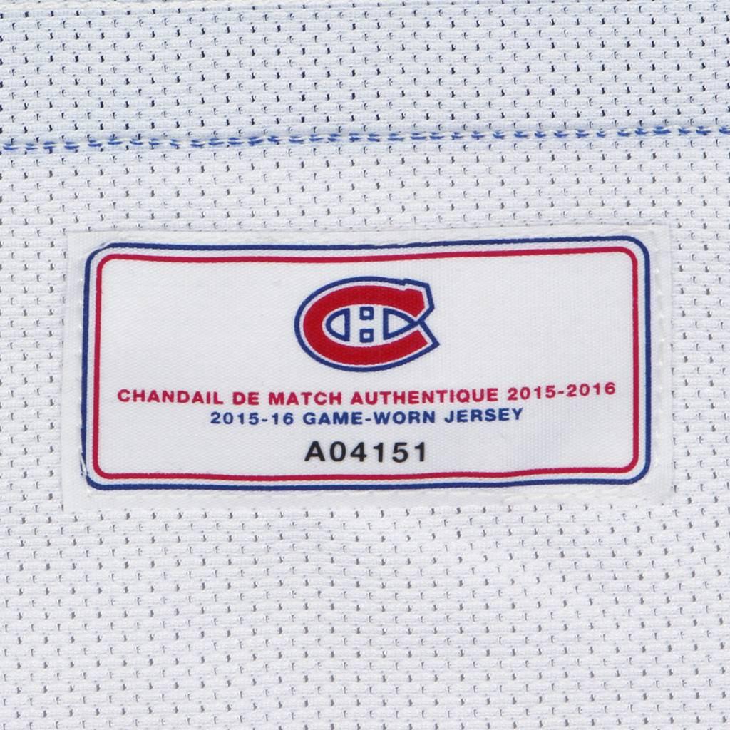 Club De Hockey CHANDAIL PORTÉ 2015-2016 #78 GUILLAUME ASSELIN À L'ÉTRANGER (CHANDAIL PRÉPARÉ)