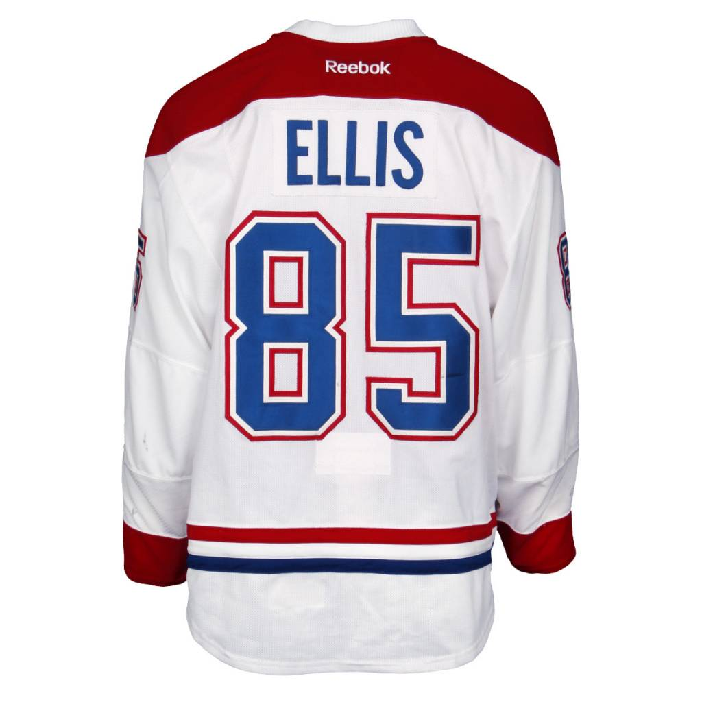 Club De Hockey CHANDAIL PORTÉ 2015-2016 #85 MORGAN ELLIS À L'ÉTRANGER (CHANDAIL PRÉPARÉ)