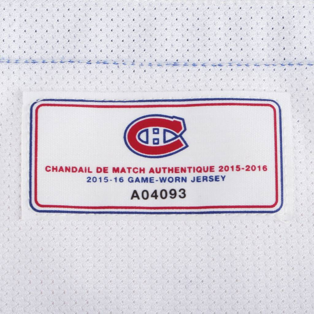 "Club De Hockey 2016-2017 #67 MAX PACIORETTY ""C"" AWAY SET 2 GAME-USED JERSEY"