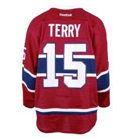 Club De Hockey CHANDAIL PORTÉ 2016-2017 #15 CHRIS TERRY SÉRIE 2 À DOMICILE (CHANDAIL PRÉPARÉ)
