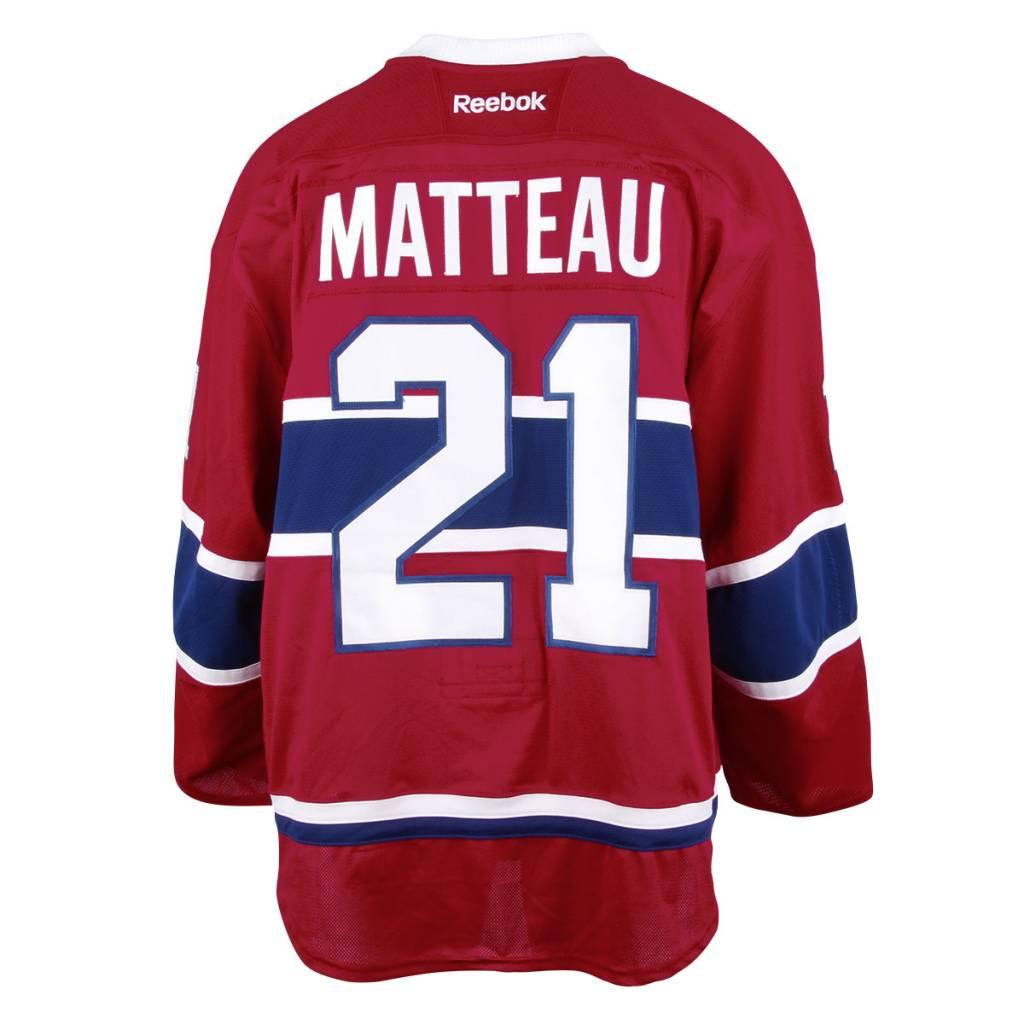 Club De Hockey CHANDAIL PORTÉ 2016-2017 #21 STEFAN MATTEAU SÉRIE 1 À DOMICILE (MATCHS PRÉPARATOIRES)