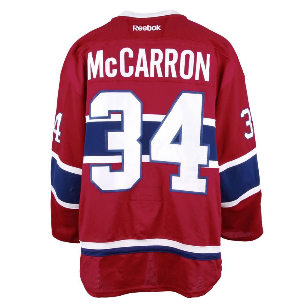 Club De Hockey CHANDAIL PORTÉ 2016-2017 #34 MICHAEL MCCARRON SÉRIE 1 À DOMICILE