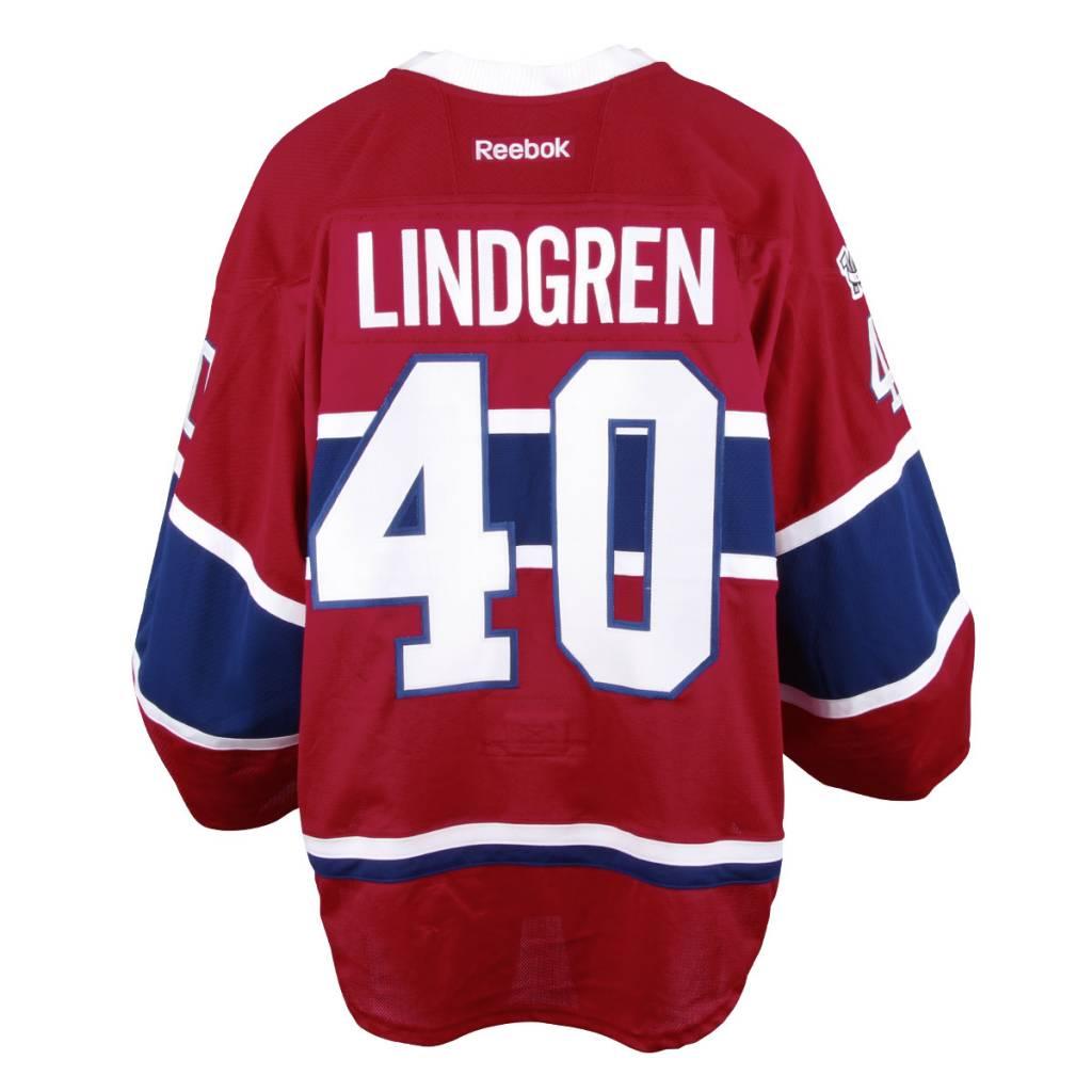 Club De Hockey CHANDAIL PORTÉ 2016 2017 #40 CHARLIE LINDGREN-SÉRIE 2 À DOMICILE (CHANDAIL PRÉPARÉ)