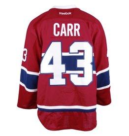 Club De Hockey CHANDAIL PORTÉ 2016-2017 #43 DANIEL CARR SÉRIE 2 À DOMICILE