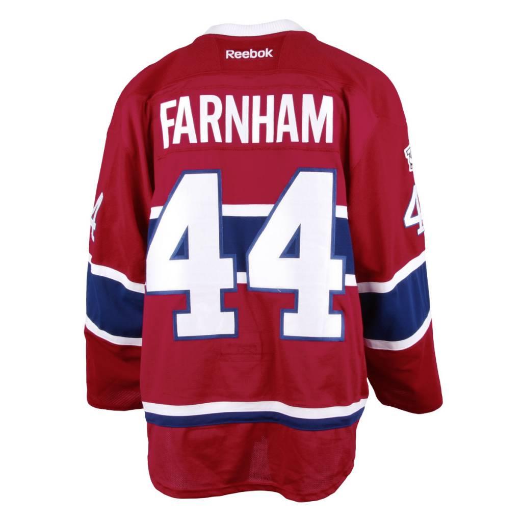 Club De Hockey CHANDAIL PORTÉ 2016-2017 #44 BOBBY FARNHAM SÉRIE 1 À DOMICILE (MATCHS PREPARATOIRES)