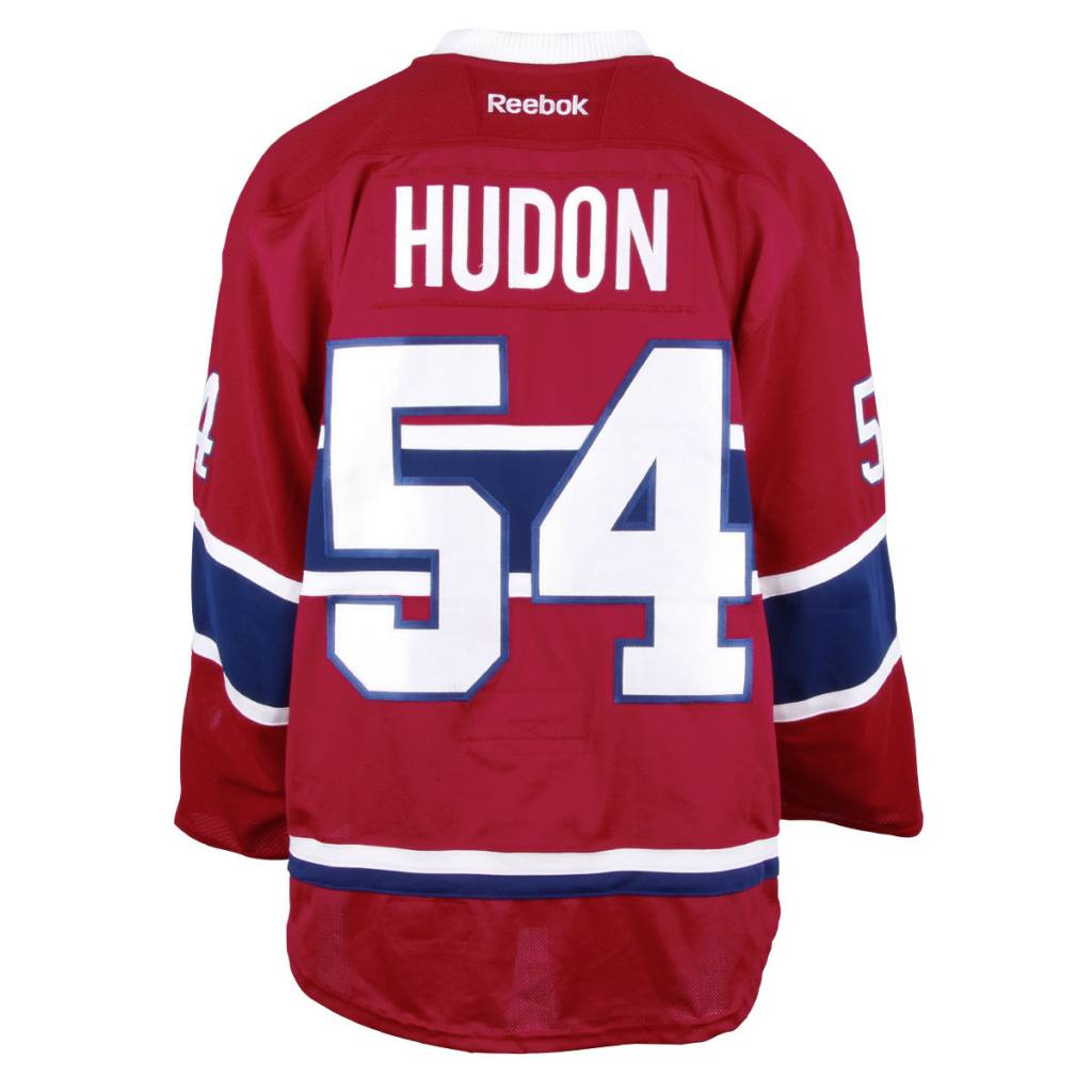 Club De Hockey 2016-2017 #54 CHARLES HUDON HOME SET 1 GAME-USED JERSEY