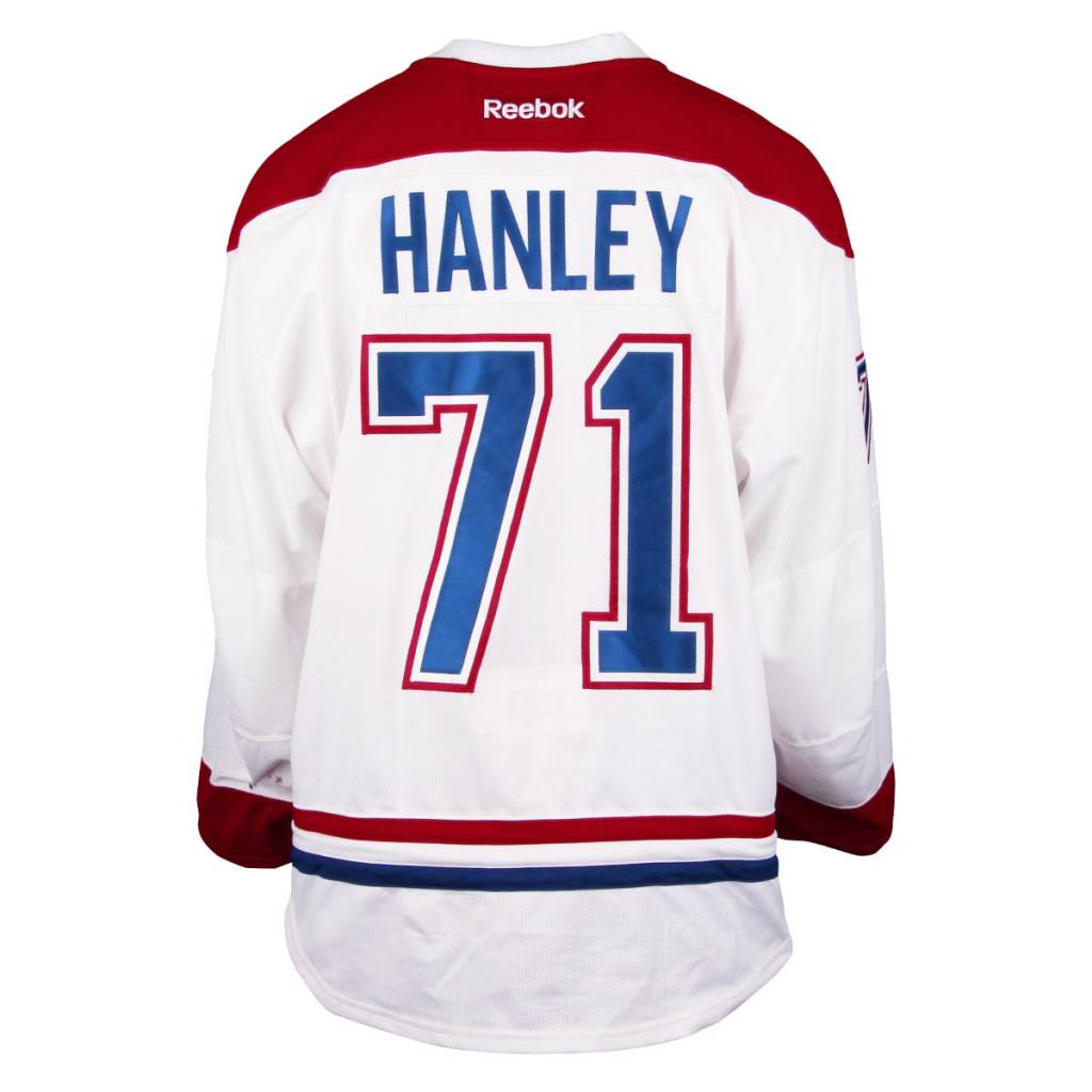 Club De Hockey 2016-2017 #71 JOEL HANLEY AWAY SET 1 GAME-USED JERSEY