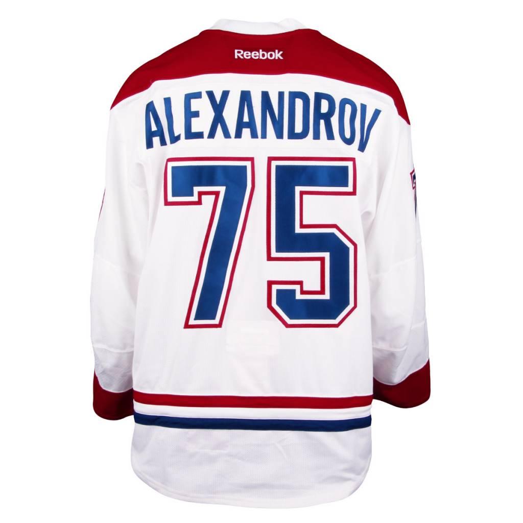 Club De Hockey CHANDAIL PORTÉ 2016-2017 #75 YURY ALEXANDROV SÉRIE 1 À L'ÉTRANGER (MATCHS PRÉPARATOIRES)