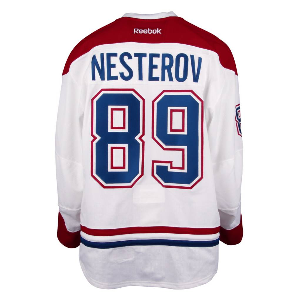 Club De Hockey 2016-2017 #89 NIKITA NESTEROV AWAY SET 3 GAME-USED JERSEY (GAME-ISSUED)