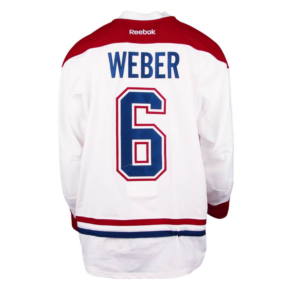 Club De Hockey 2016-2017 #6 SHEA WEBER AWAY SET 3 GAME-USED JERSEY