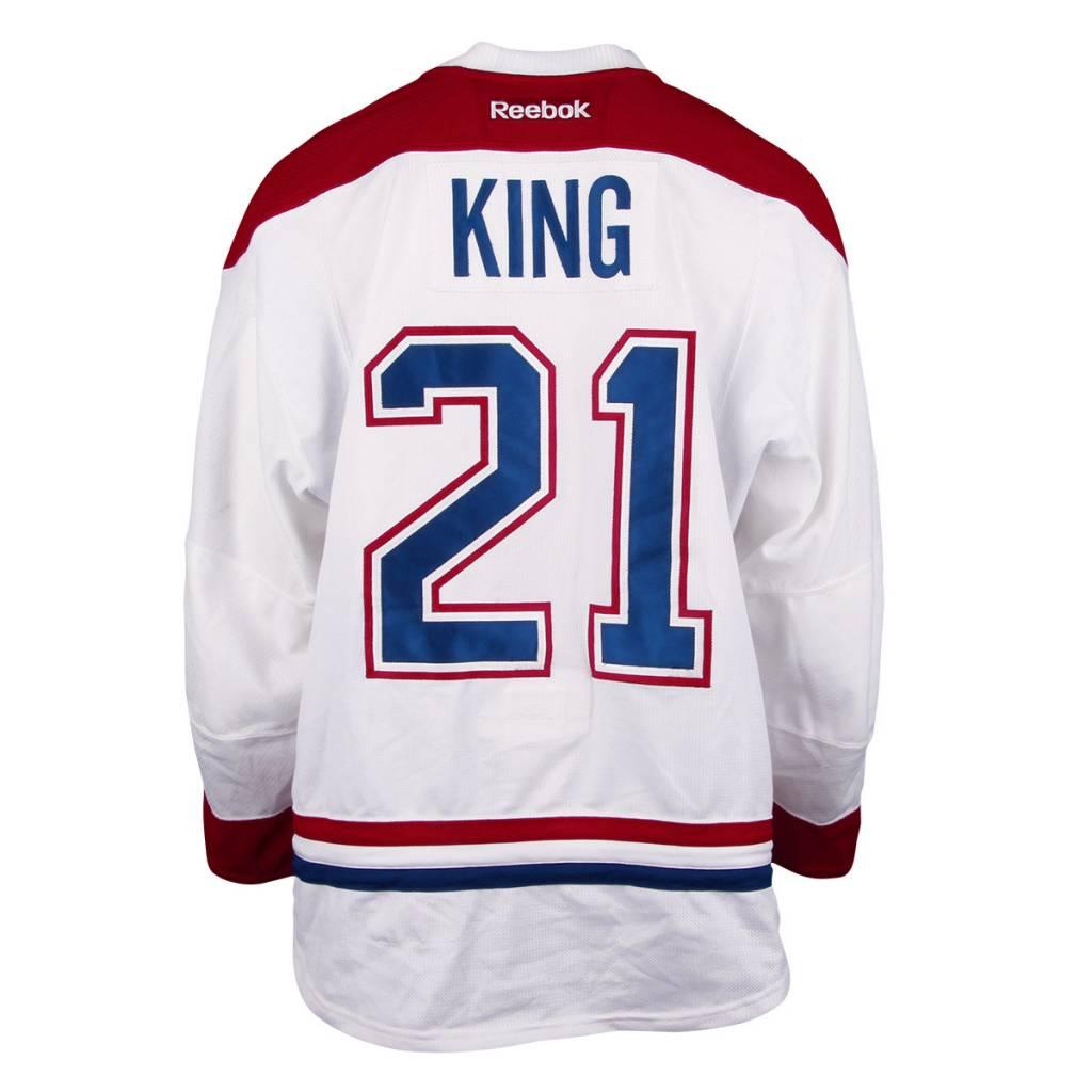 Club De Hockey CHANDAIL PORTÉ 2016-2017 #21 DWIGHT KING À L'ÉTRANGER