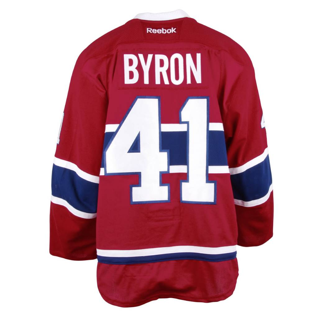 Club De Hockey CHANDAIL PORTÉ 2016-2017 #41 PAUL BYRON SÉRIE 2 À DOMICILE