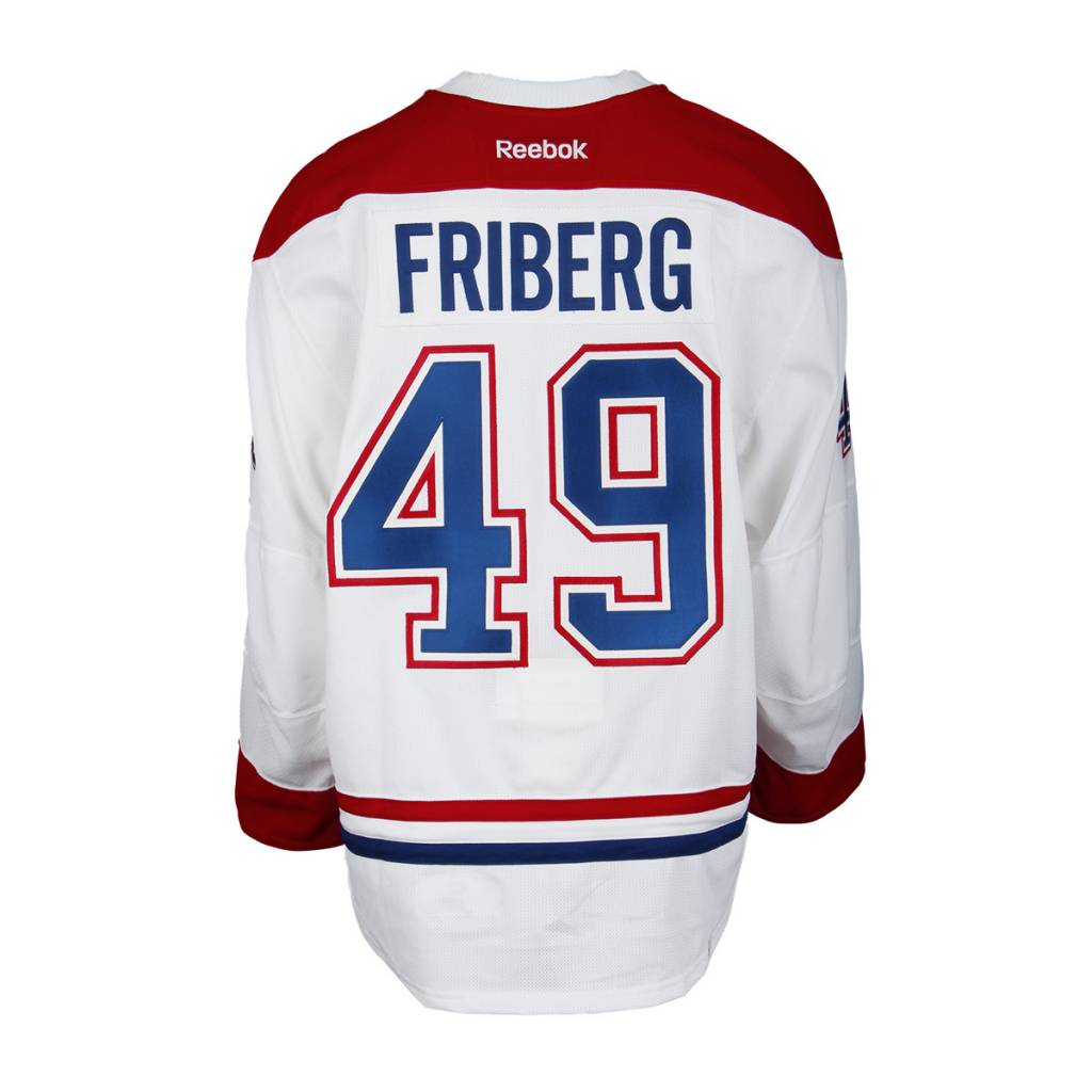 Club De Hockey 2015-2016 #49 MAX FRIBERG AWAY SET 1 GAME-USED JERSEY (GAME-ISSUED)
