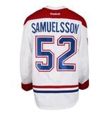 Club De Hockey CHANDAIL PORTÉ 2016-2017 #52 PHILIP SAMUELSSON SÉRIE 1 À L'ÉTRANGER (MATCHS PRÉPARATOIRES)