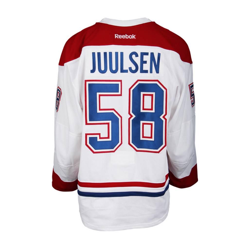 Club De Hockey CHANDAIL PORTÉ 2016-2017 #58 NOAH JUULSEN SÉRIE 1 À L'ÉTRANGER (MATCHS PRÉPARATOIRES)