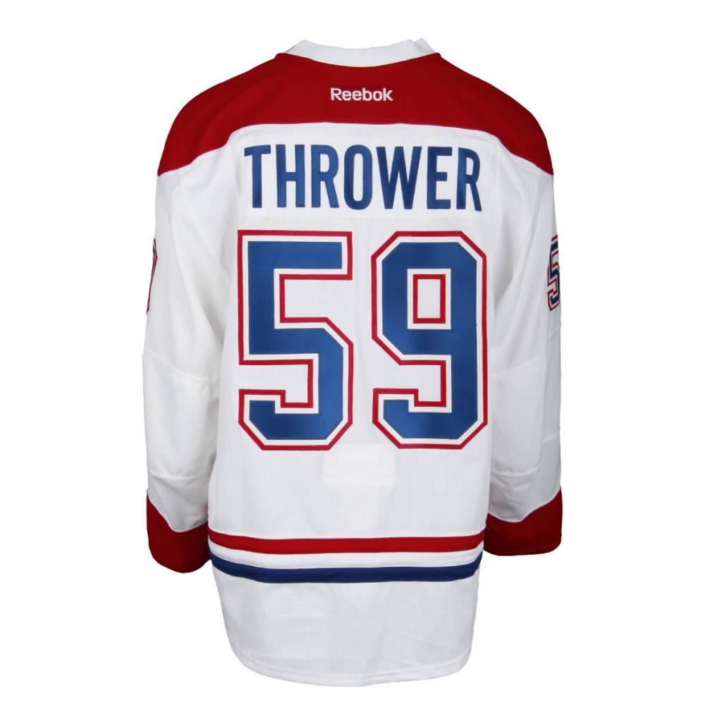 Club De Hockey CHANDAIL PORTÉ 2016-2017 #59 DALTON THROWER SÉRIE 1 À L'ÉTRANGER (CHANDAIL PRÉPARÉ)