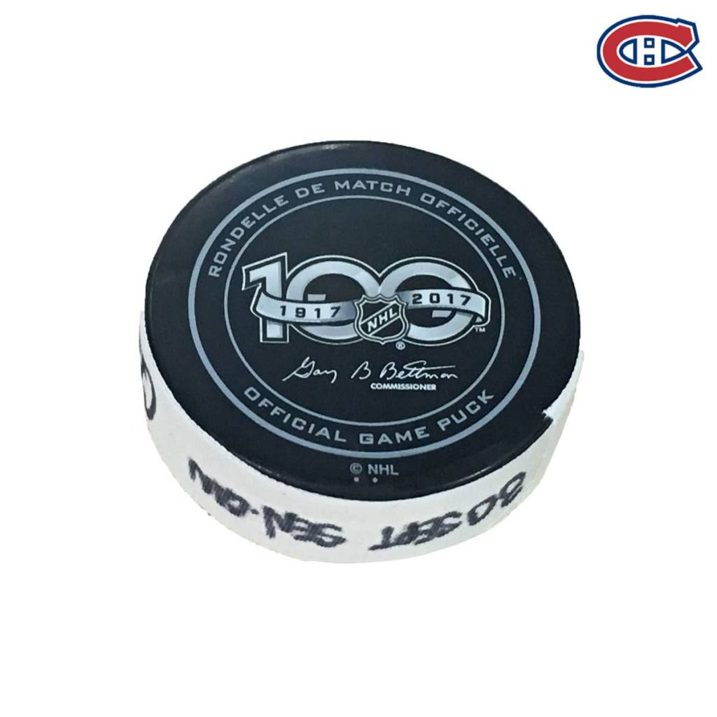 Club De Hockey JACOB DE LA ROSE GOAL PUCK (2) 30-SEP-2017