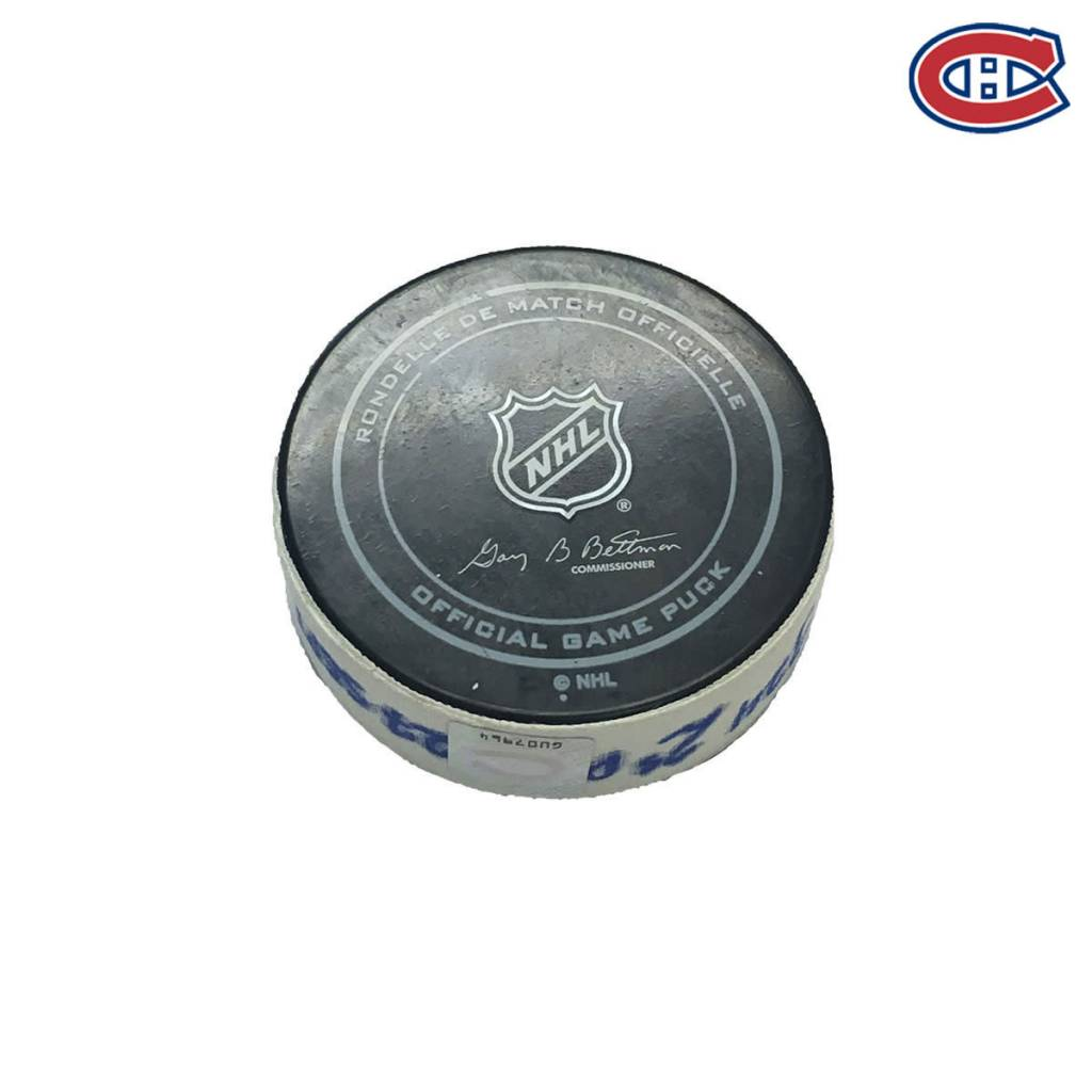 Club De Hockey PAUL BYRON GOAL PUCK (1) 27-SEP-2016