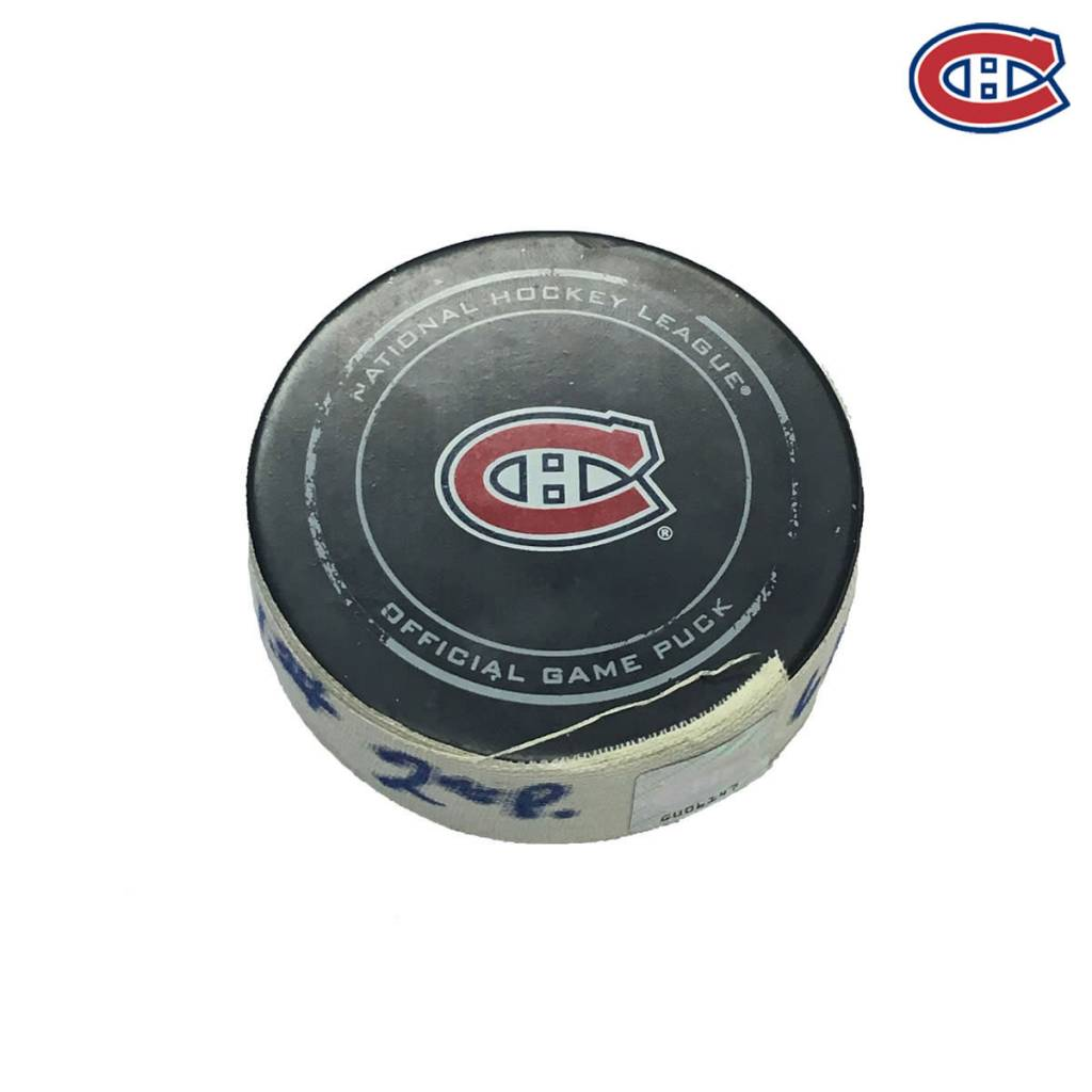 Club De Hockey ANDREW SHAW GOAL PUCK (2) 6-OCT-2016