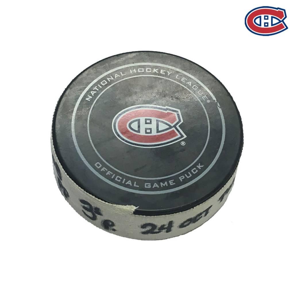 Club De Hockey BRENDAN GALLAGHER GOAL PUCK (4) 24-OCT-2016