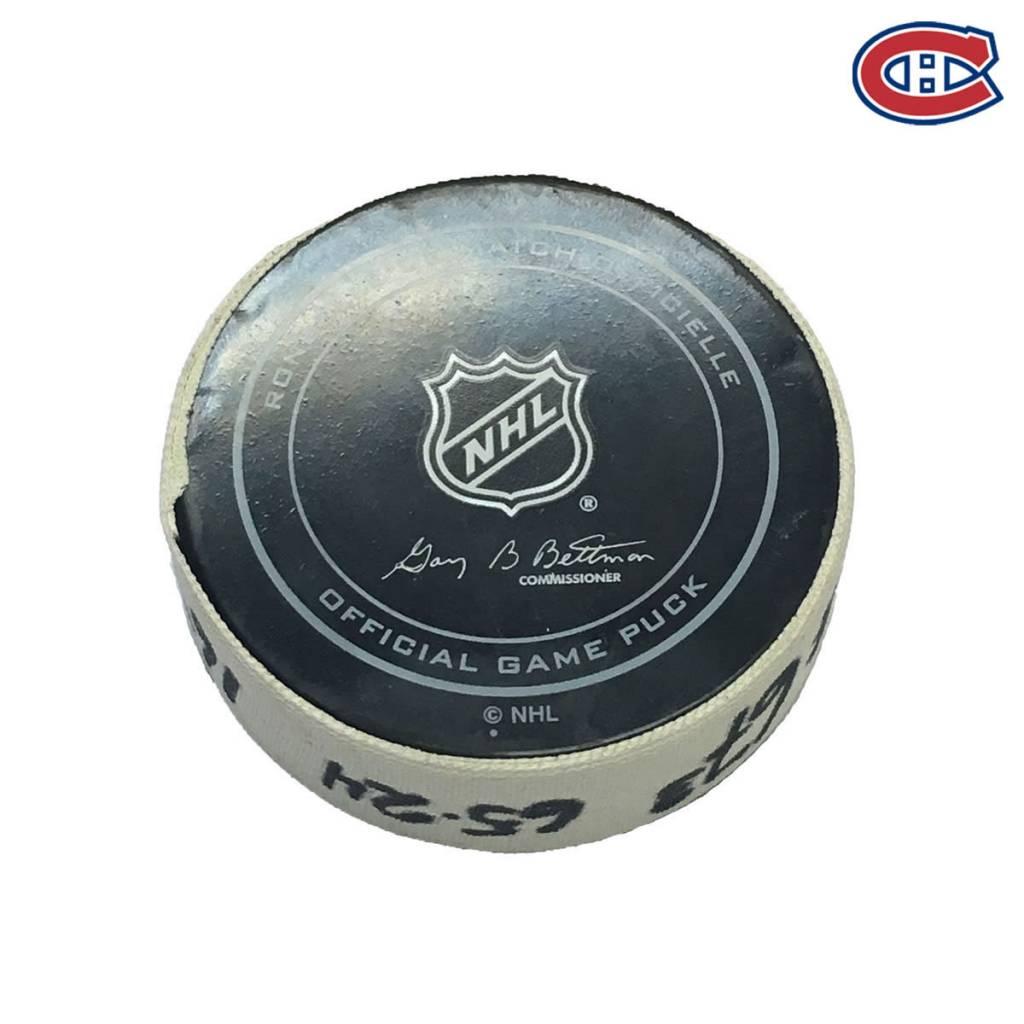 Club De Hockey ANDREW SHAW GOAL PUCK (2) 12-NOV-2016