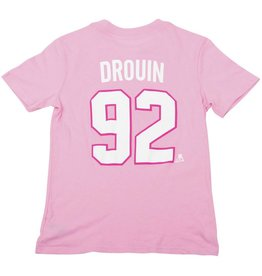 Outerstuff JONATHAN DROUIN JUNIOR PINK PLAYER T-SHIRT