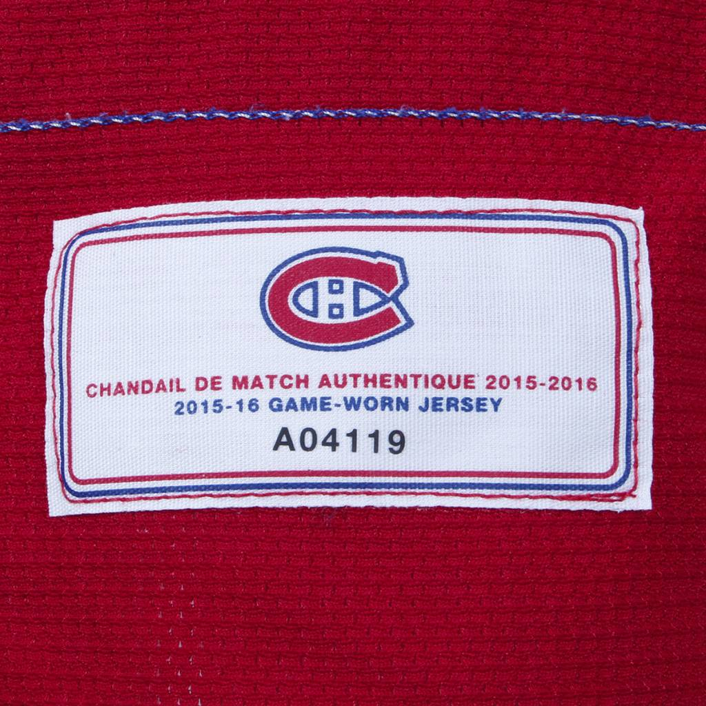 "Club De Hockey 2015-2016 #67 MAX PACIORETTY ""C"" HOME SET 1 GAME-USED JERSEY"